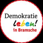 Logo grau Demokratie leben bramsche